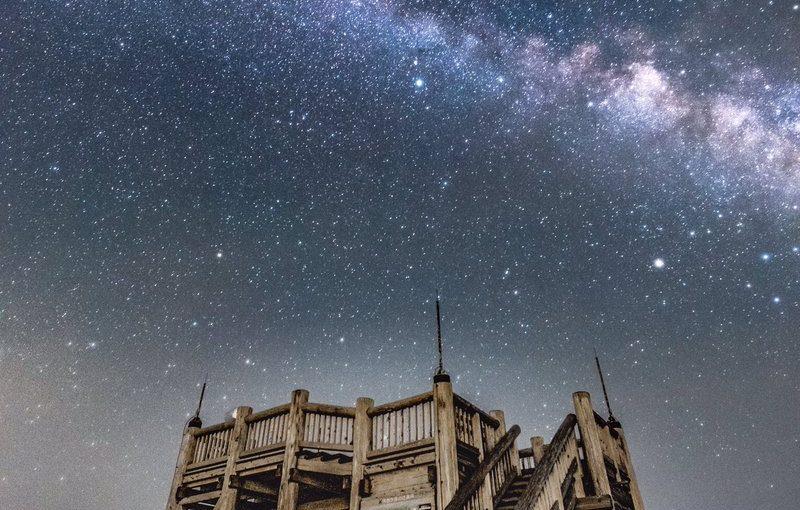 日出ヶ岳の星空